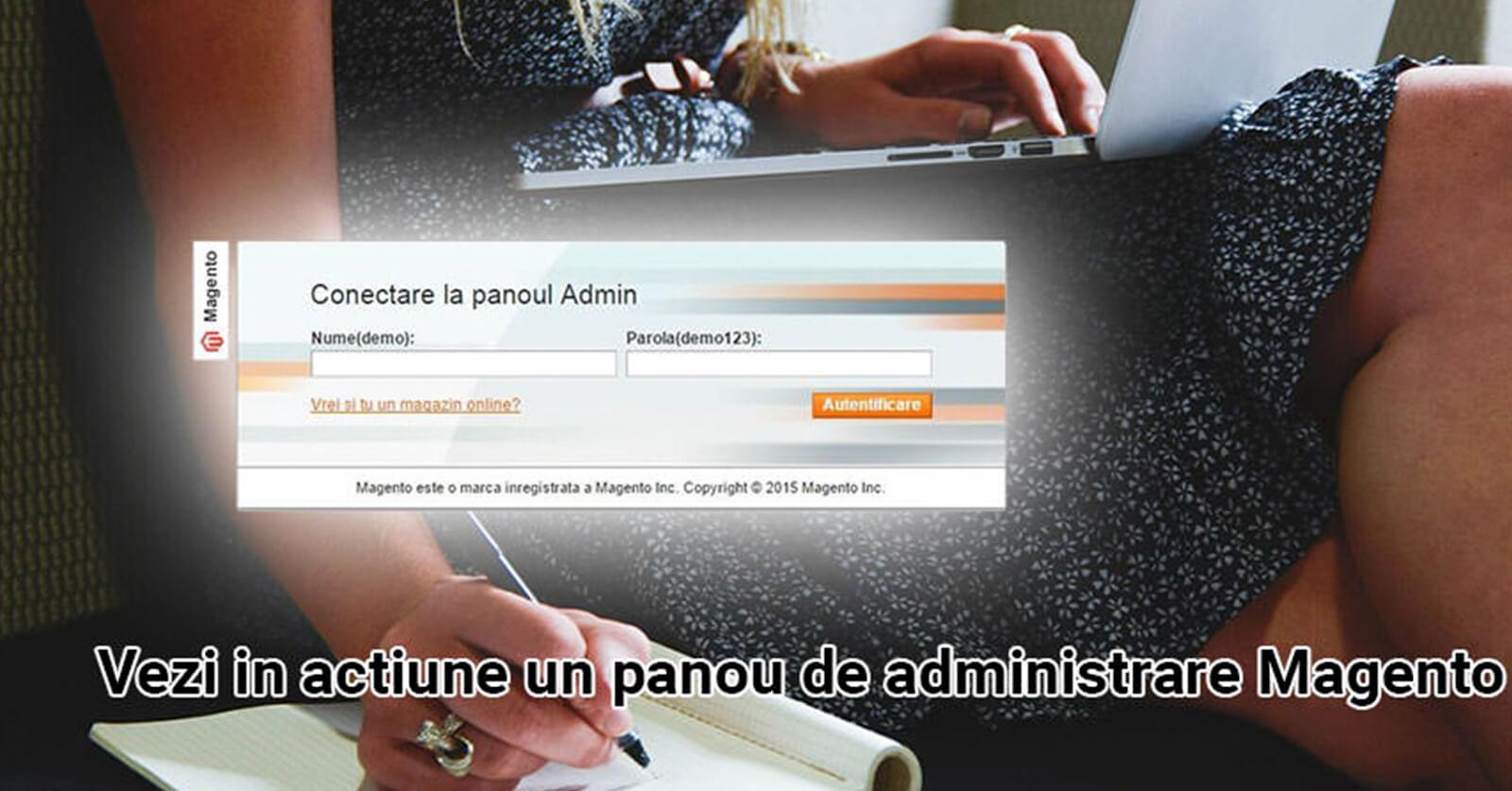 Demo panou de administrare magazin online – Magento