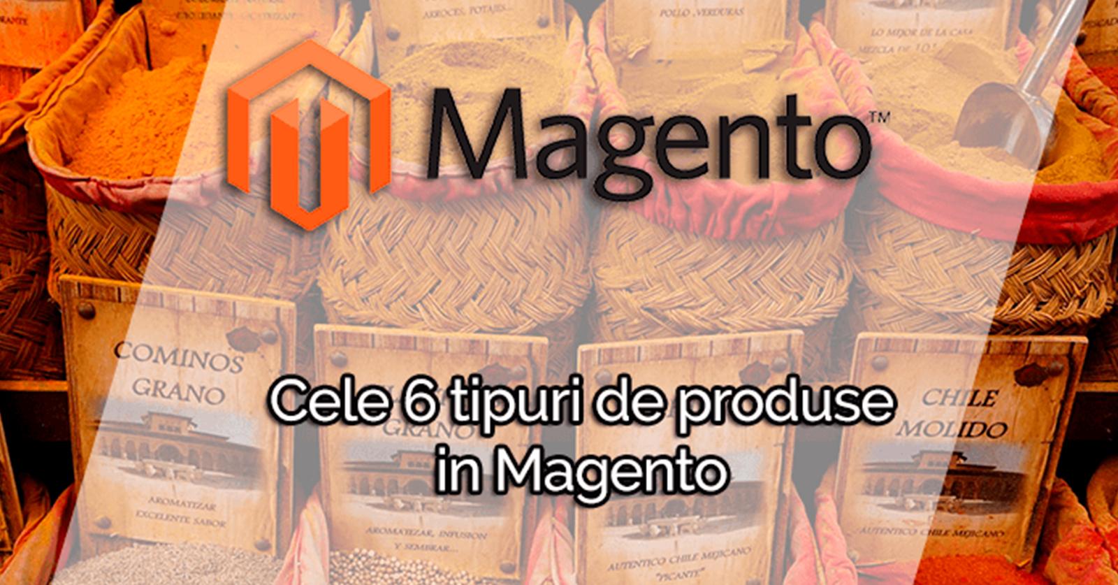 Cele 6 tipuri de produse prezente in Magento