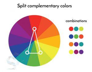 culori complementare divizate logo design