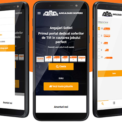 Website portal angajarisoferi.ro